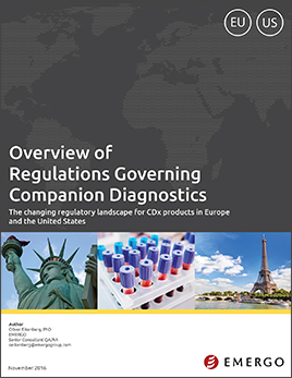 Download our white paper on Regulations fro Companion Diagnostics in the US and EU