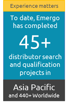 Emergo has completed  45+ distributor search and qualification projects in the Asia Pacific region