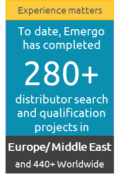 Emergo has completed  280+ distributor search and qualification projects in Europe and Middle East