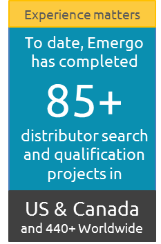 Emergo has completed  85+ distributor search and qualification projects in U.S. and Canada