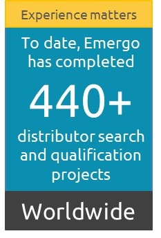 Emergo has completed  440+ distributor search and qualification projects Worldwide