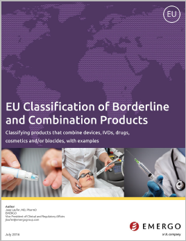 Download our white paper on EU Classification of Borderline and Combination Products