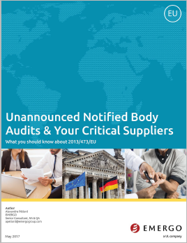 Download our white paper on Unannounced Notified Body Audits & Your Critical Suppliers