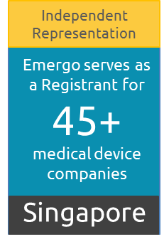 Singapore Registrant for over 45 medical device companies