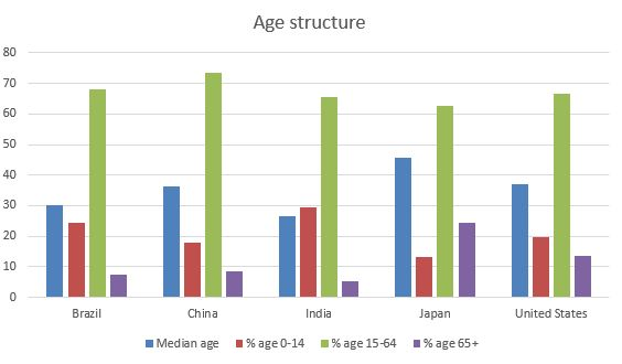 China age structure