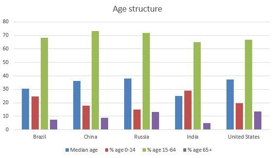 russia age structure