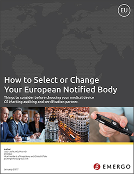 Free white paper: How to Select and Change a Notified Body in Europe