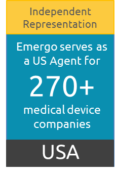 US FDA Agent for more than 270 medical device companies