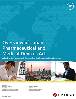 White paper: Japan's New Pharmaceutical and Medical Devices Law